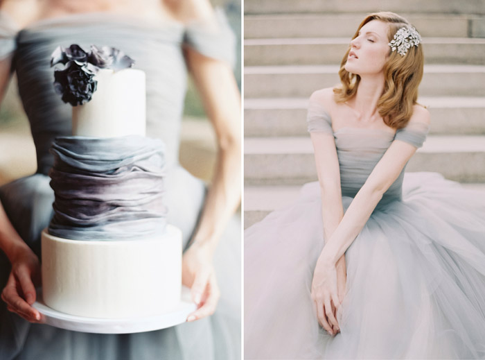Left: Lael Cakes; Right: Sareh Nouri – New York. www.theweddingnotebook.com