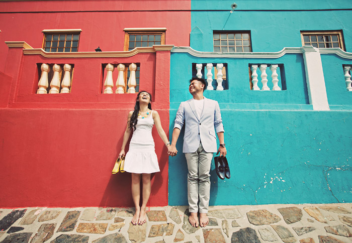 Bo-Kapp, Cape Town. 16 Colourful Places In The World For Your Bridal Portraits. www.theweddingnotebook.com