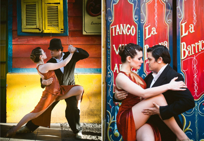 La Boca, Buenos Aires. 16 Colourful Places In The World For Your Bridal Portraits. www.theweddingnotebook.com