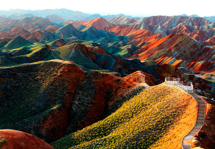 Zhangye Danxia Landform Geological Park. 16 Colourful Places In The World For Your Bridal Portraits. www.theweddingnotebook.com