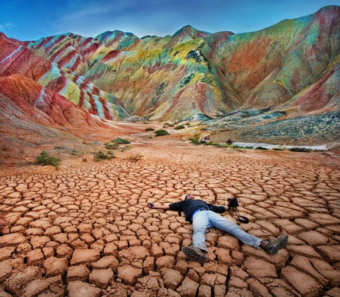 Colourful mountains, China. 16 Colourful Places In The World For Your Bridal Portraits. www.theweddingnotebook.com