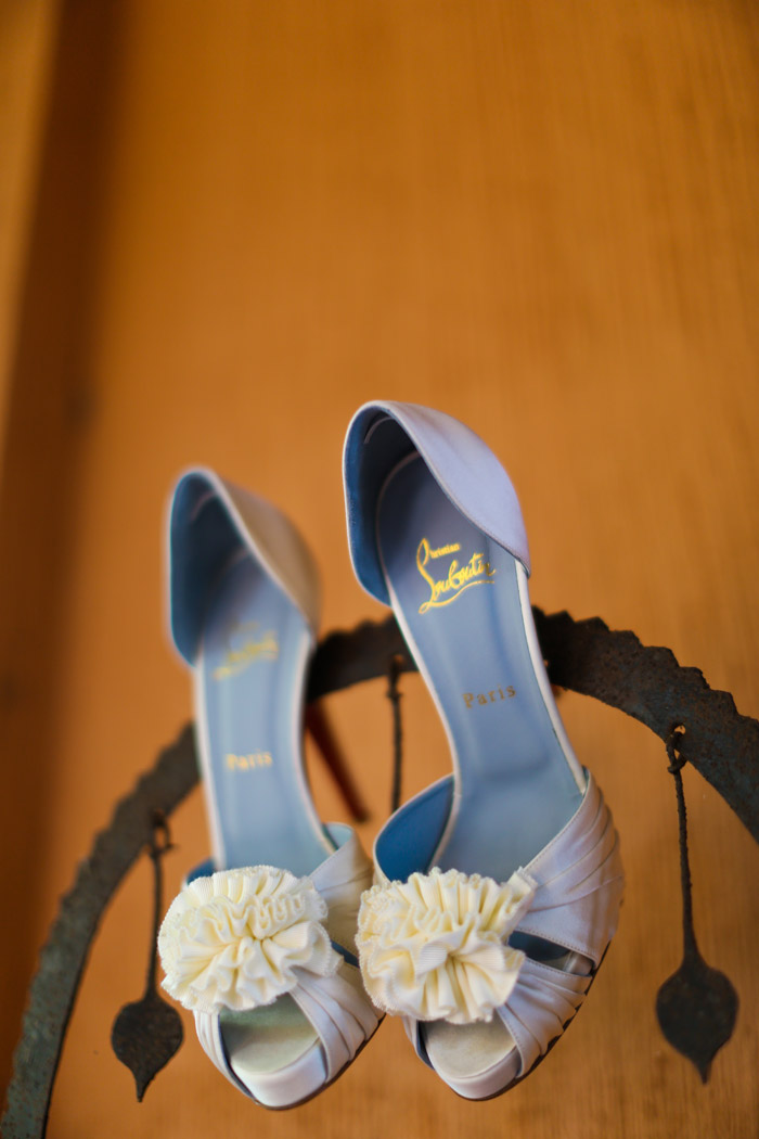 Bridal Shoes by Christian Louboutin. Photo by Jenny Sun Photography. www.theweddingnotebook.com