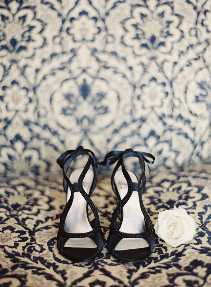 Bridal Shoes by Stuart Weitzman. Photo by Patrick Moyer Photography. www.theweddingnotebook.com