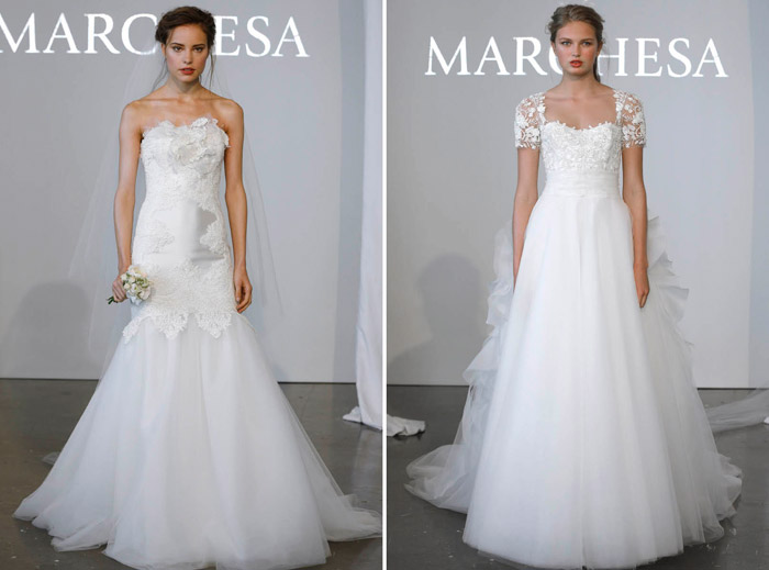 Marchesa Spring 2015 Bridal Collection. www.theweddingnotebook.com