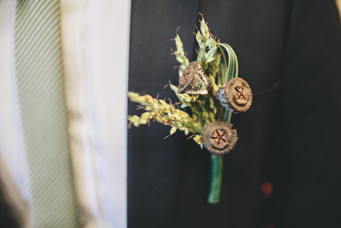 Rustic boutonniere. Photo by History Studio. www.theweddingnotebook.com