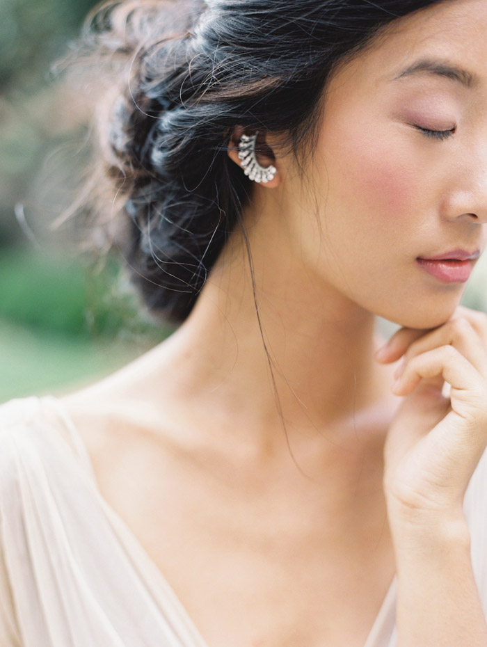 Liv Hart earrings. Enchanted Atelier By Liv Hart Fall 2015 Collection. Photo by Laura Gordon Photography. www.theweddingnotebook.com