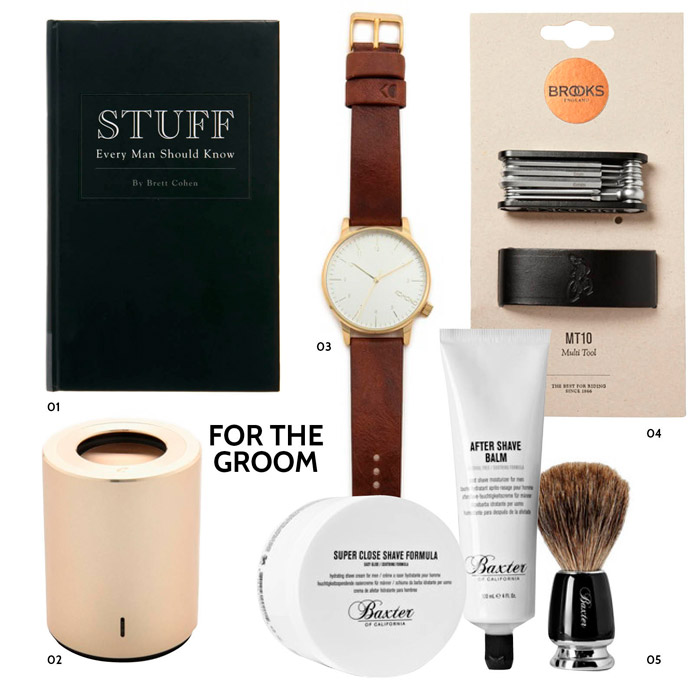 Christmas Gift Ideas For The Groom. www.theweddingnotebook.com