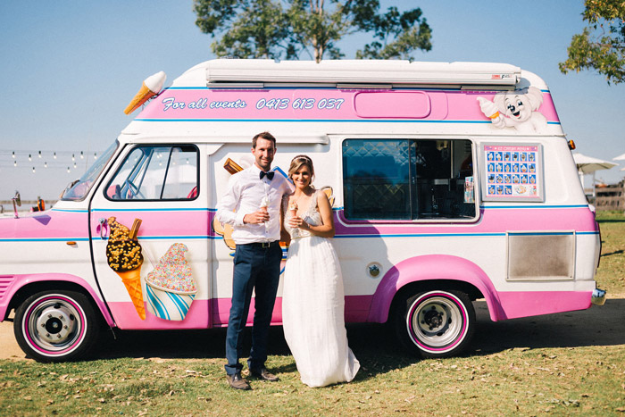 Ice cream truck for wedding. Studio Something Photography. www.theweddingnotebook.com