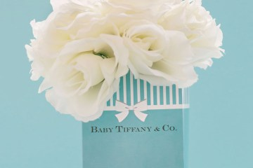 Tiffany themed party. Photo by Awesome Memories Photography. Event Styling by Deux Dames. www.theweddingnotebook.com