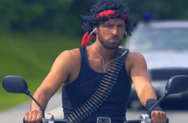 Rambo Themed Bachelor Party. www.theweddingnotebook.com
