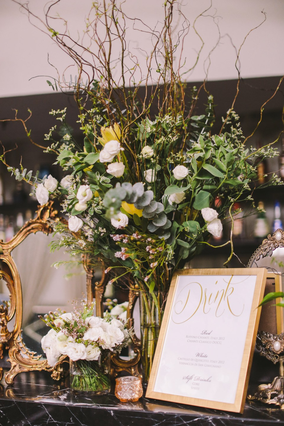 Styling by Mint Events and Soirees. Jenny Sun Photography. www.theweddingnotebook.com