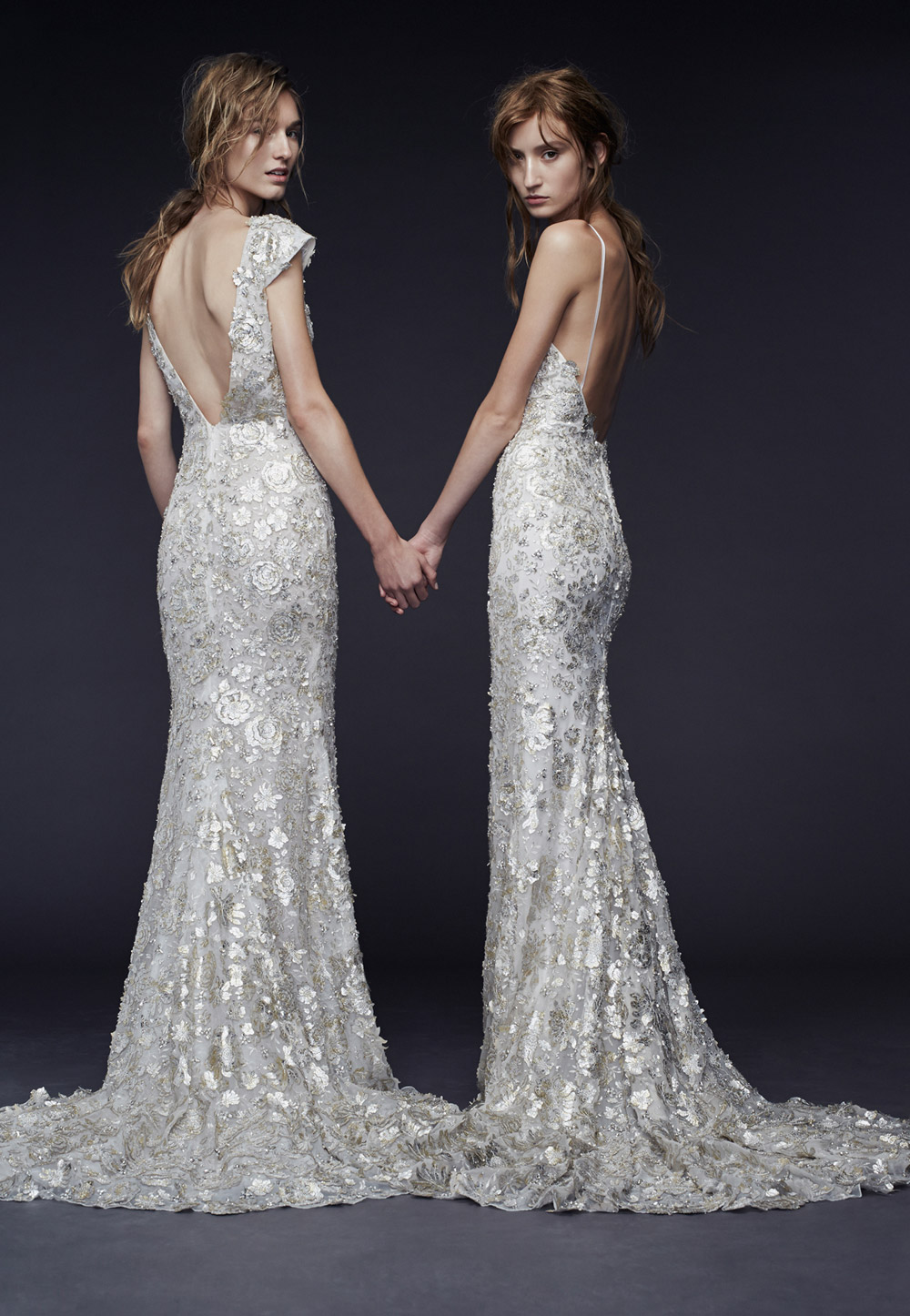 Priya and Pheobe – Vera Wang Fall 2015 Collection. www.theweddingnotebook.com