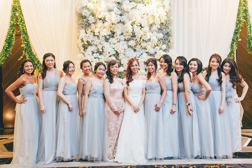 Bridesmaids in pastel colour. Photo by Adam Ong Photography. www.theweddingnotebook.com