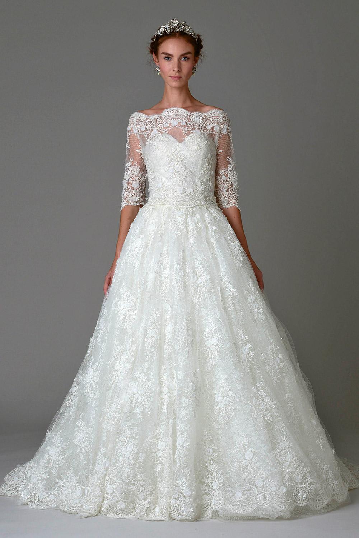 Marchesa Fall 2016 Bridal Collection. www.theweddingnotebook.com