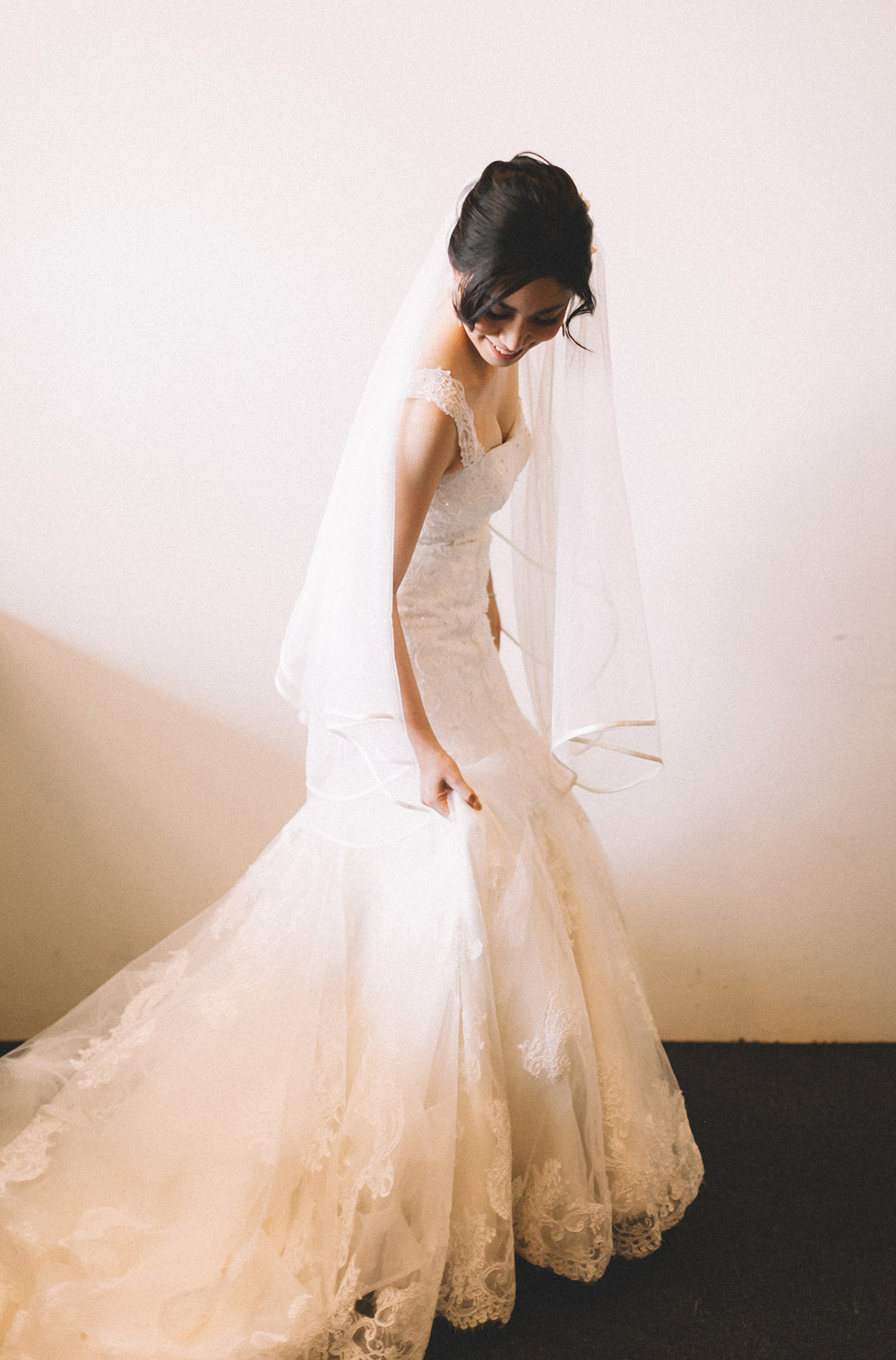 Dress by Celest Thoi. Photo by Arch and Arrow Studio. www.theweddingnotebook.com