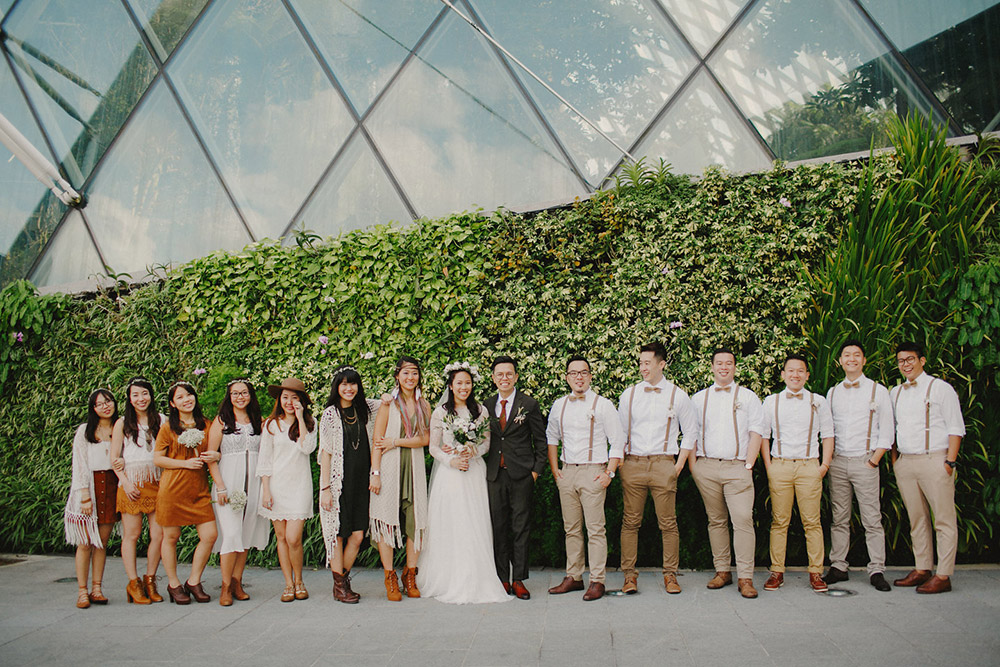 photo by samuel goh photography wwwtheweddingnotebookcom - Garden By The Bay Flower Field Hall