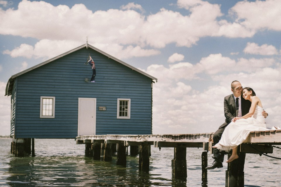 Andy Phe Photography. Blue Boat House, Perth. www.theweddingnotebook.com