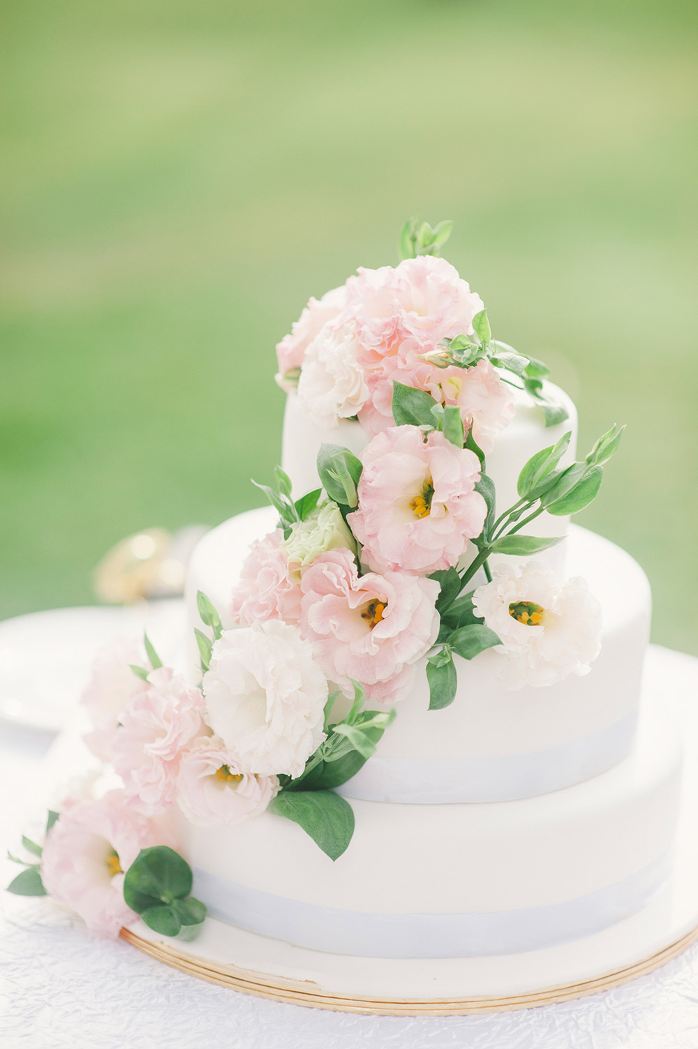 Blush pink wedding cake. Munkeat Photography. www.theweddingnotebook.com