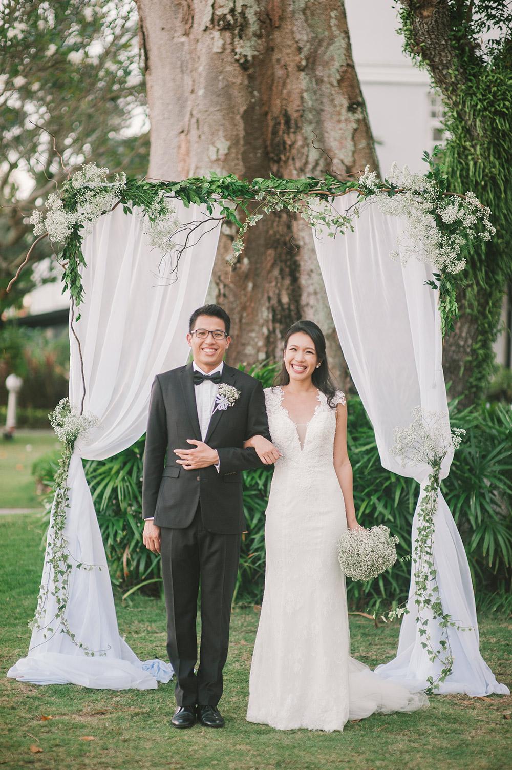 Garden wedding in Eastern & Oriental Hotel, Penang. Munkeat Photography. www.theweddingnotebook.com