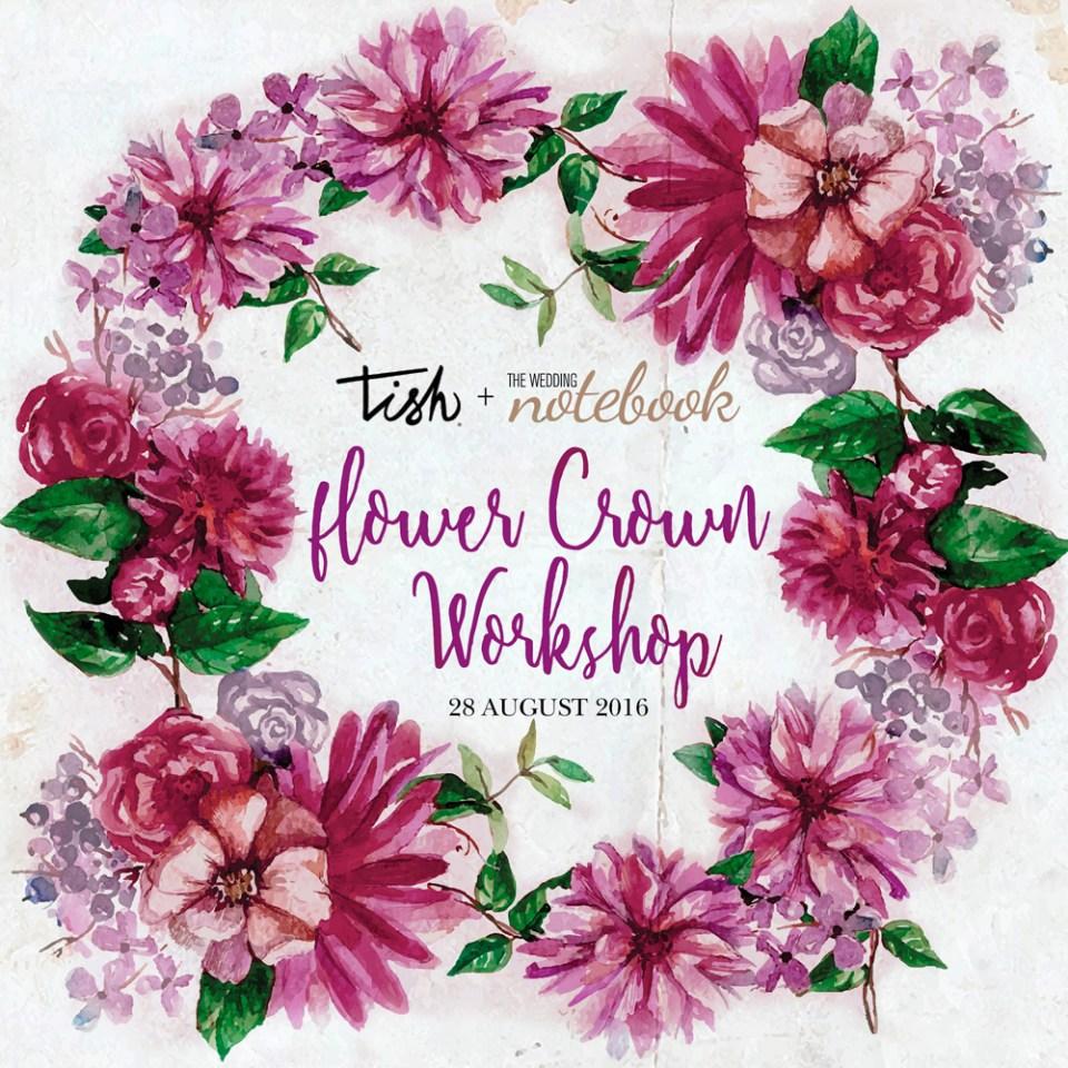 Tish Events flower crown workshop