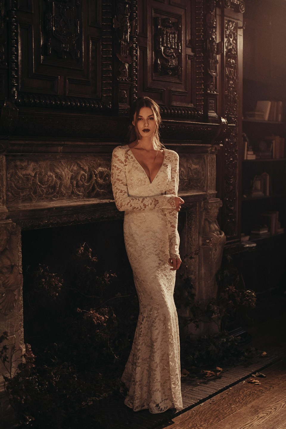 Amber - Claire Pettibone 2017 Bridal Collection. Photo by Dan O'Day. www.theweddingnotebook.com
