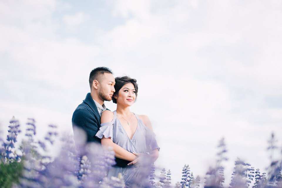 Bridal portraits in Iceland. Photo by Ben Yew Photography. www.theweddingnotebook.com