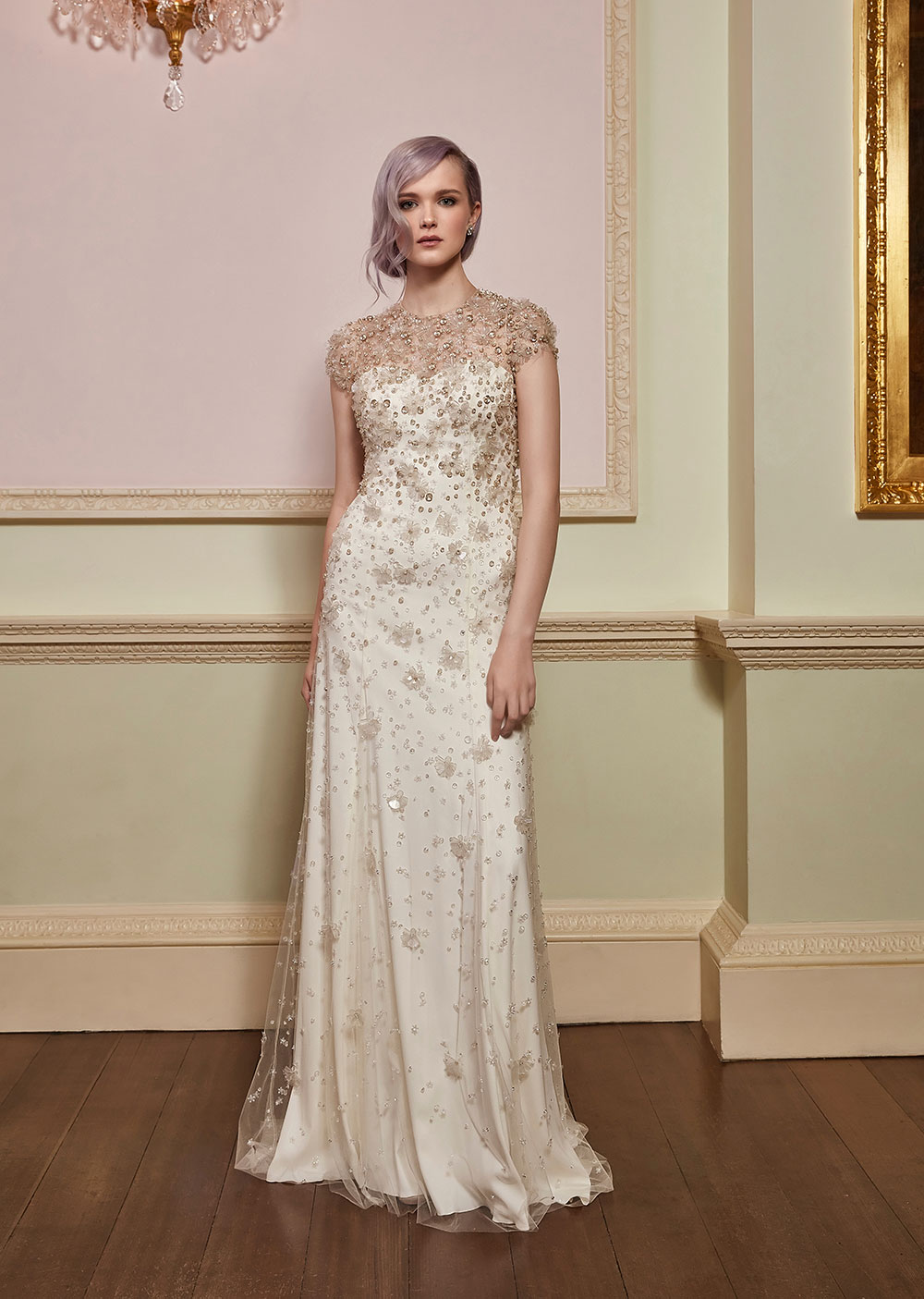 Hope Barley - Jenny Packham 2018 Bridal Collection. www.theweddingnotebook.com