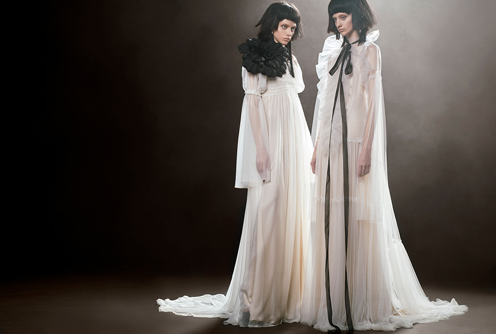 Agatha & Claire - Vera Wang Spring 2018 Bridal Collection. www.theweddingnotebook.com