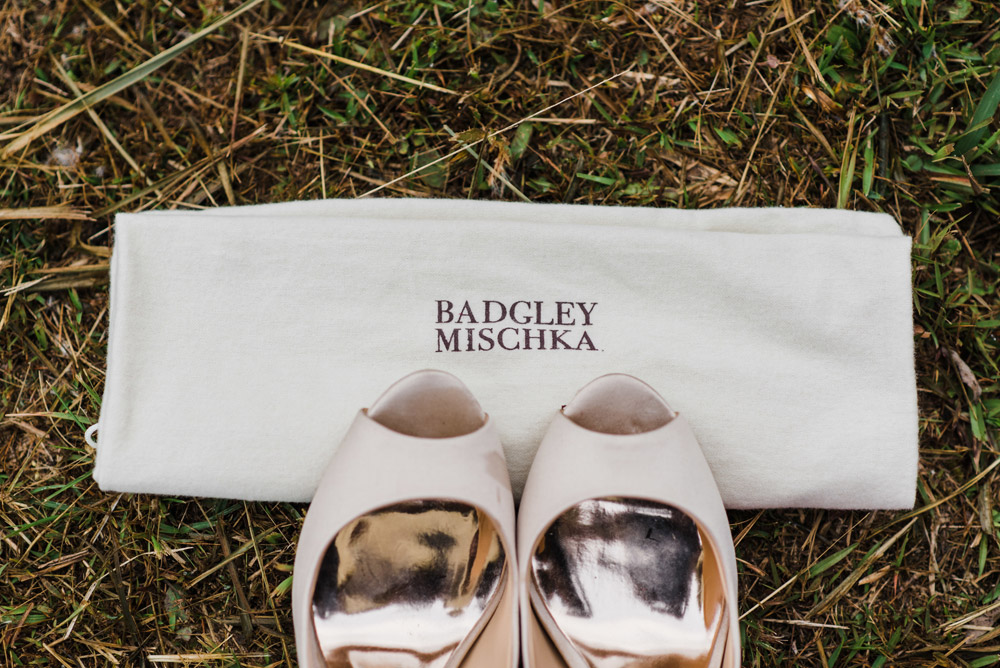 Badgley Mishka bridal shoes. Photo by Peter Herman Photography. www.theweddingnotebook.com