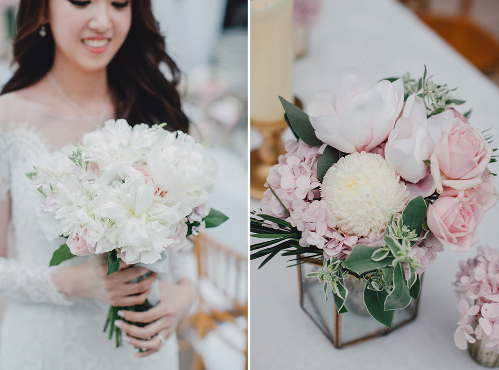 Blush pink wedding. Photo by Mcs Wedding Gallery. www.theweddingnotebook.com