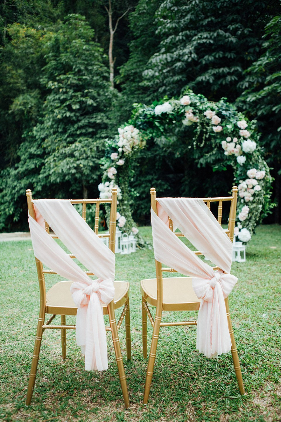 Wedding chairs. Photo by Fixer Photography. www.theweddingnotebook.com
