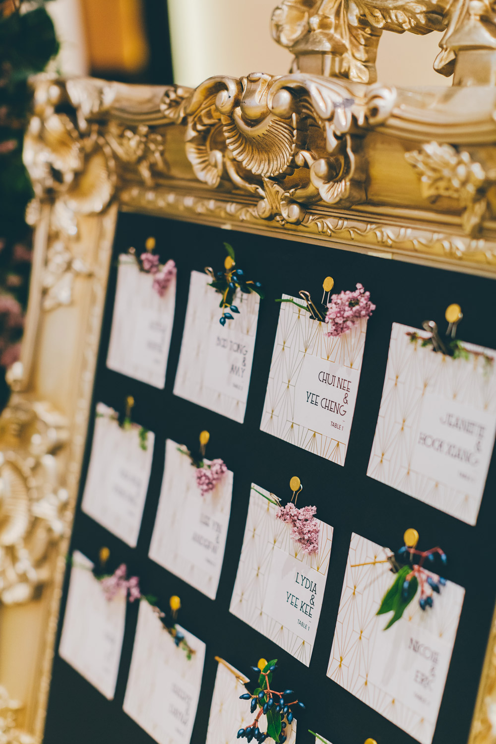 Escort card details. Photo by MJK Photography. Wedding at Le Meridien Putrajaya. www.theweddingnotebook.com