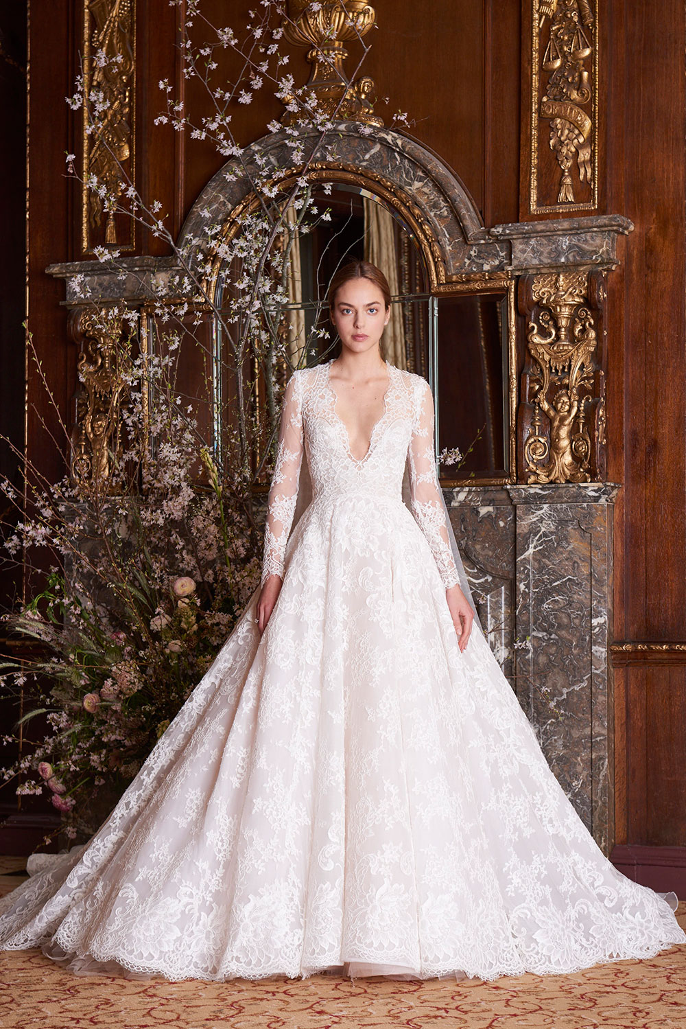 – Monique Lhuillier Spring 2019 Bridal Collection. www.theweddingnotebook.com