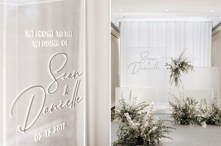 Minimalist Contemporary Ivory Wedding At Hilton Kuching