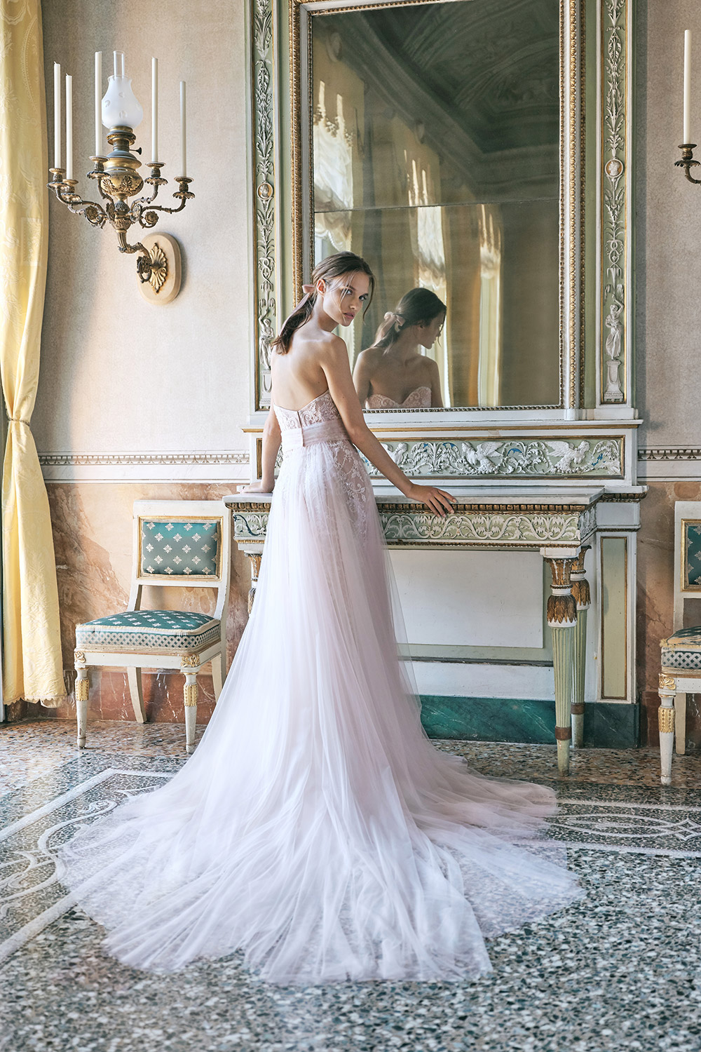 Venetian - Monique Lhuillier Fall 2020 Bridal Collection. www.theweddingnotebook.com