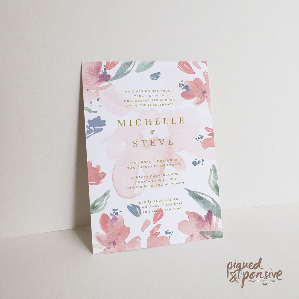 KAMI x Piqued and Pensive wedding invitation. www.theweddingnotebook.com