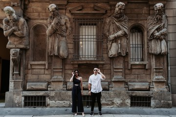 Destination bridal portraits in Milan and Venice. Chester Kher Creations. www.theweddingnotebook.com