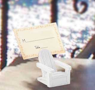 chair accessories for weddings classic ikea beach wedding theme adirondack place card holder