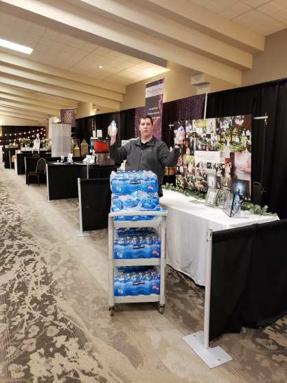 Wedding Ring Concierge making sure everyone is hydrated!