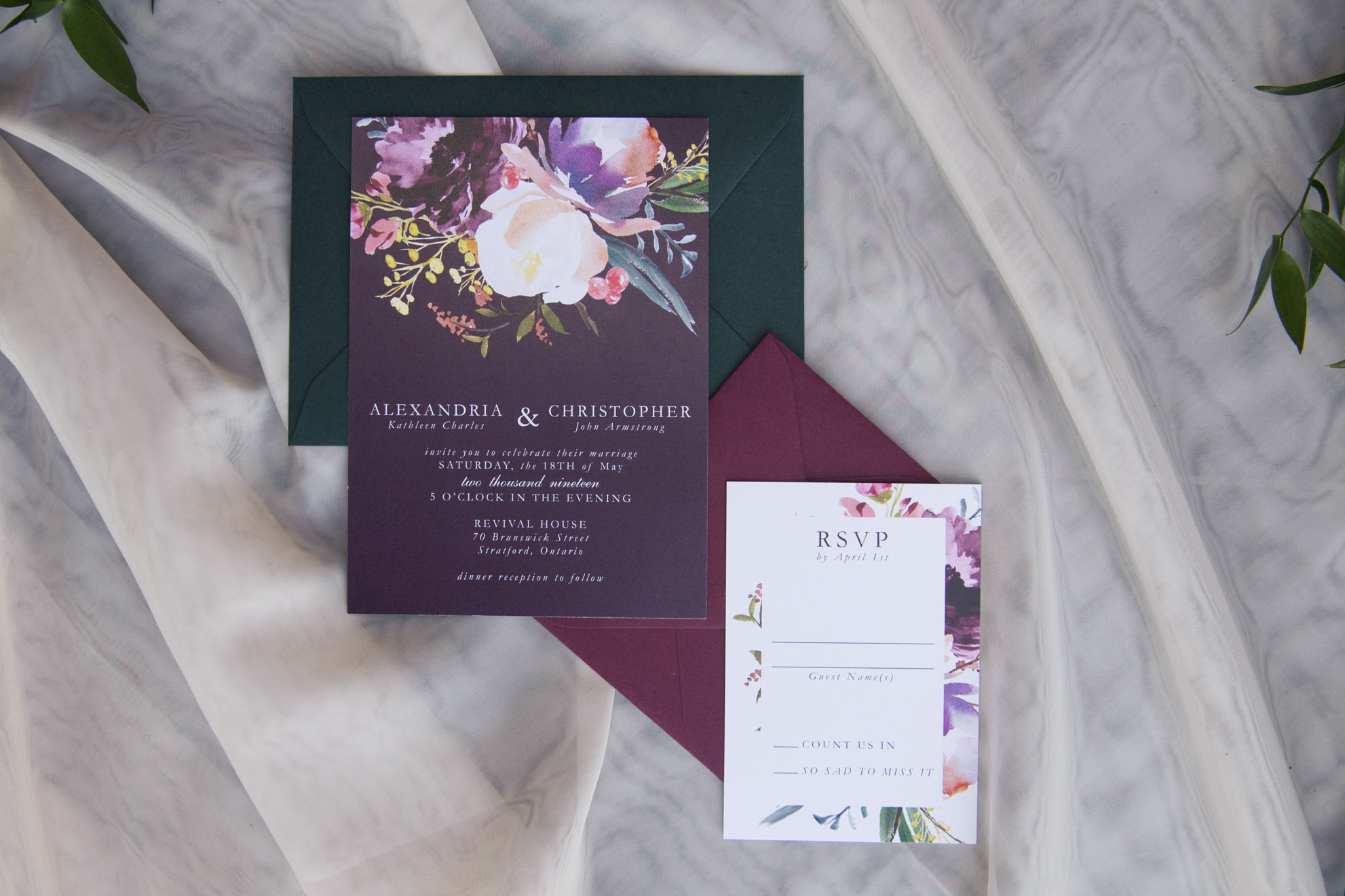 Moody wedding invitation inspiration
