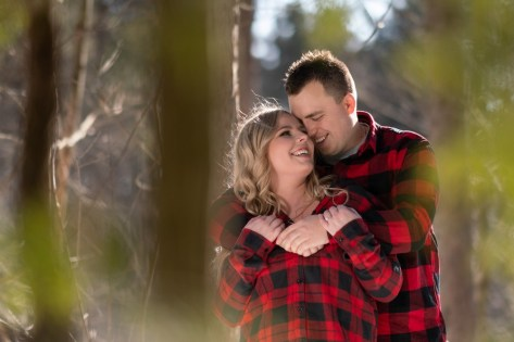 hayley and jason's love story fall winter engagement photo with plaid shirts Wedding photography A Nash Photogra