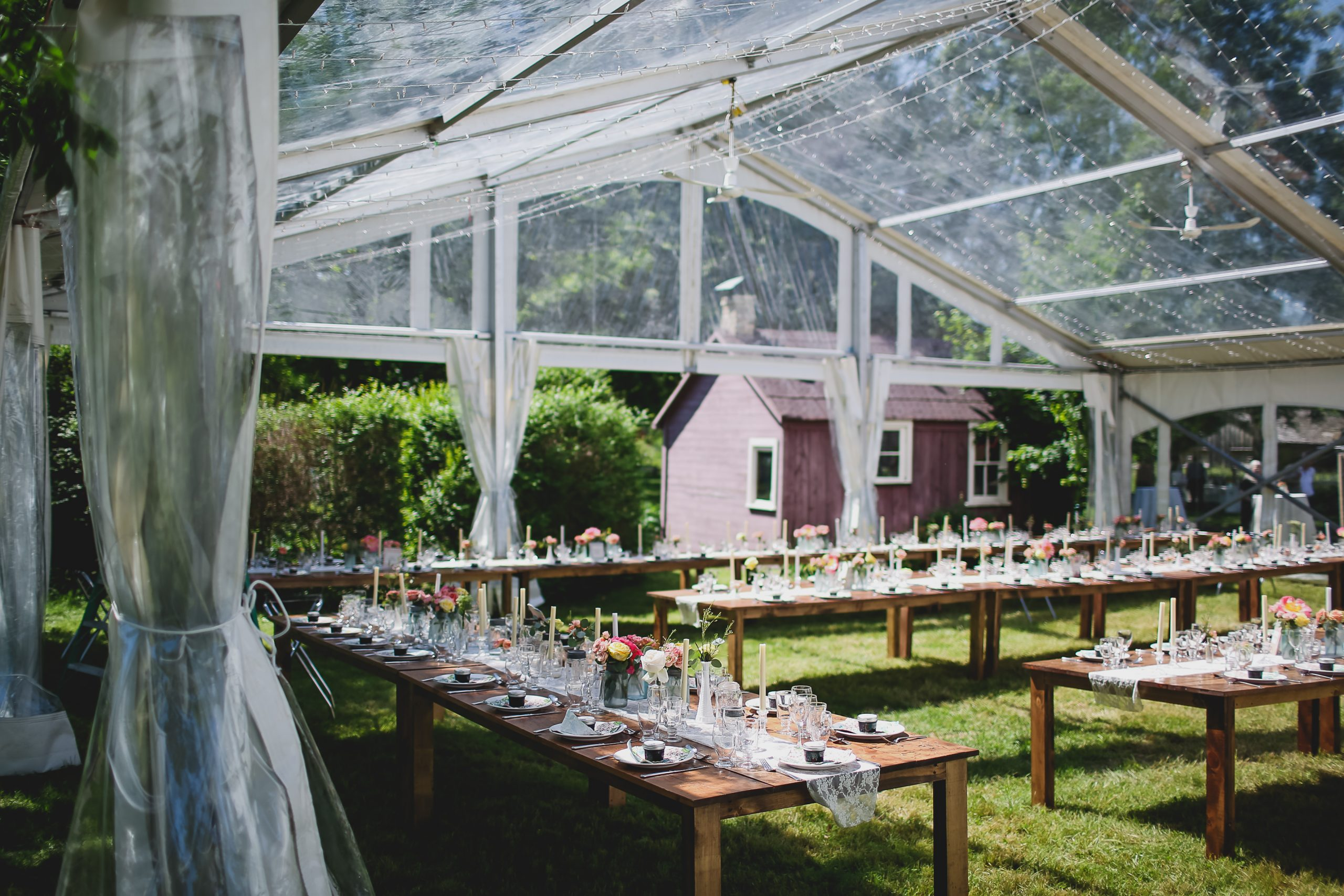 Tent outdoor wedding locations