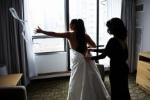 Becky & Ben's GTA Wedding ~ Wedding Prep: Chelsea Hotel: | Ceremony: La Maquette Restaurant | Reception: {made} by Madrigal | Photo: Brian Limoyo Photography