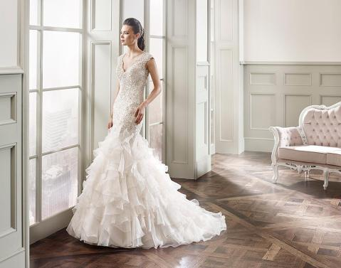 creme couture wedding gown