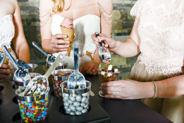 Hosting the perfect cocktail hour - Expert Tip by Frozen Trolly featured in the Fall/Winter 2016 Wedding Ring Magazine  Photo: Heather Dietz Photography