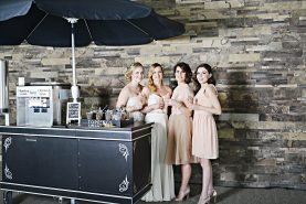 Hosting the perfect cocktail hour - Expert Tip by Frozen Trolly featured in the Fall/Winter 2016 Wedding Ring Magazine| Photo: Heather Dietz Photography