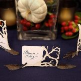 Metal Leaf Card Holders