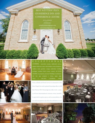 Best Western Stoneridge Inn & Conference Centre | Photo: top, left top and left bottom Jessica Lutz Photography | Left Middle: Amanda Kopic Photography | Right bottom: Loveknots Photography