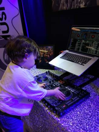 Nitro Music's DJ in training