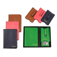 Personalized Leather Passport Holder & Luggage Tag Set (4 ...